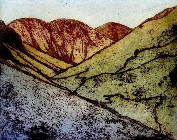 RUSSELL, June. whiteless-pike colour etching