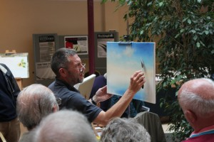 TAYLOR, Jeremy Ilkley Gazette painting demonstration Ilkley Art Club