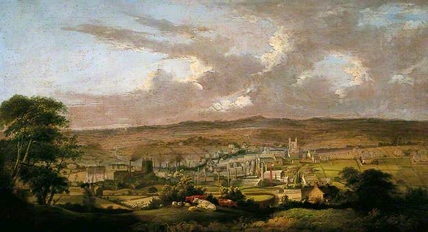 Bradford 1825.  Image: BBC 'Your Paintings'/Bradford Museums & Galleries