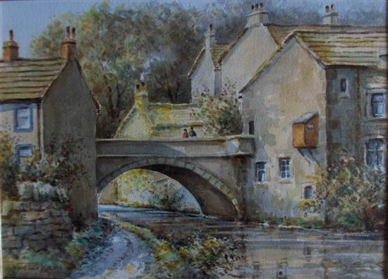 PARKER, William E  Ask Art the-mill-bridge-skipton