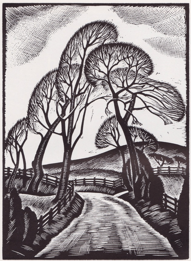 GREENWOOD, John F. wood engraving Nessfield Road