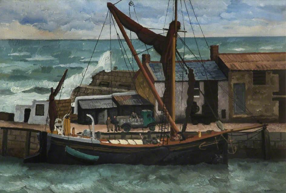 Eurich, Richard Ernst; Unloading Cement, Lyme; Salford Museum & Art Gallery; http://www.artuk.org/artworks/unloading-cement-lyme-165076