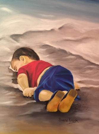 MALIK, Simone. Dead boy painting