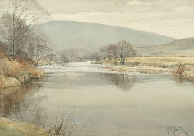 arthur-reginald-smith-riverside-view-bolton-abbey_-private-collection