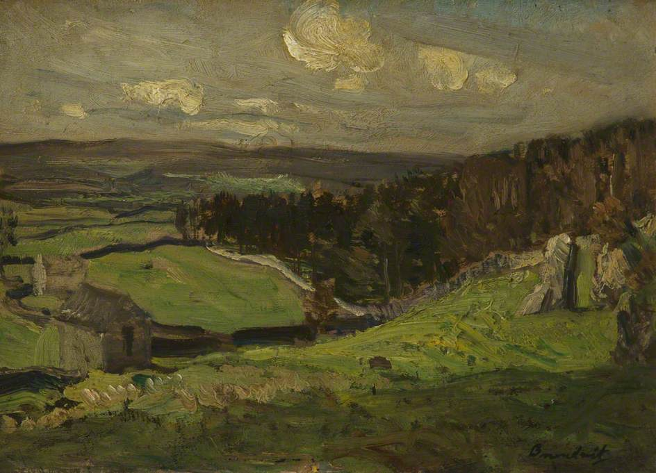 Brundrit, Reginald Grange; The Edge of Grass Wood, Grassington; Salford Museum & Art Gallery; http://www.artuk.org/artworks/the-edge-of-grass-wood-grassington-164953