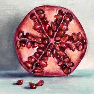 BRAYSHAW, Helen. Cut Pomegranate